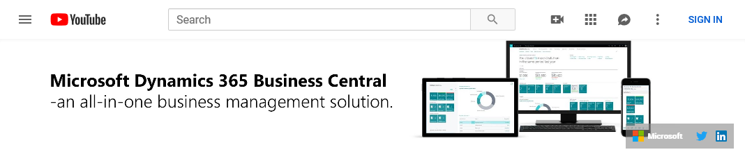 Business Central on YouTube