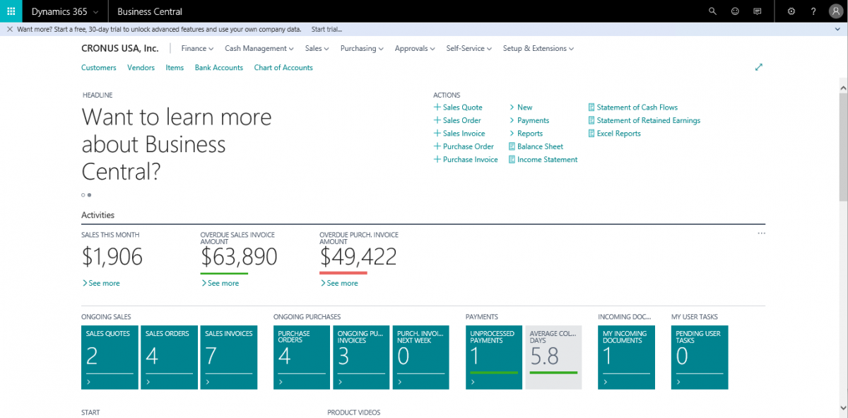 Microsoft 365 Business Central